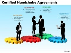 PowerPoint Template Diagram Certified Handshake Ppt Layouts