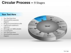 PowerPoint Template Diagram Circular Process Ppt Process