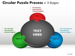 PowerPoint Template Diagram Circular Puzzle Ppt Slide