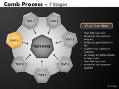 PowerPoint Template Diagram Hub And Spokes Process Ppt Theme