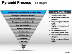 PowerPoint Template Diagram Pyramid Process Ppt Slide