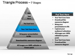 PowerPoint Template Diagram Triangle Process Ppt Slide