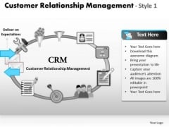 PowerPoint Template Download Customer Relationship Management Ppt Design