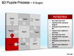 PowerPoint Template Download Puzzle Process Ppt Slide