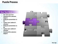 PowerPoint Template Editable 3d Puzzle Process Ppt Slides