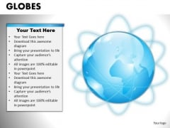 PowerPoint Template Editable Globes Ppt Template
