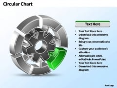 PowerPoint Template Editable Interconnected Circular Chart Ppt Slide