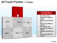 PowerPoint Template Editable Puzzle Process Ppt Slides