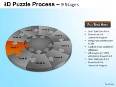 PowerPoint Template Editable Puzzle Segment Pie Chart Ppt Process