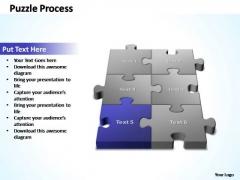 PowerPoint Template Education 3d Puzzle Process Ppt Slides