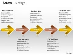 PowerPoint Template Evolution Of 5 Stages Marketing Plan Partnership Image