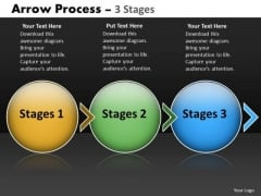 PowerPoint Template Evolution Of Three Stages Circular 3d Arrows Image