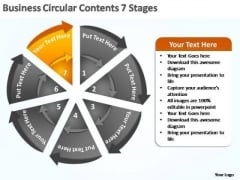 PowerPoint Template Graphic Business Circular Ppt Template