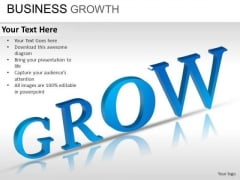 PowerPoint Template Graphic Business Growth Ppt Slide