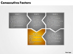 PowerPoint Template Graphic Consecutive Factors Ppt Theme