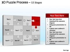 PowerPoint Template Graphic Puzzle Process Ppt Backgrounds