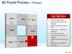 PowerPoint Template Graphic Puzzle Process Ppt Slide