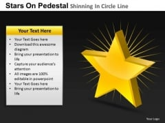 PowerPoint Template Growth Pedestal Shinning Ppt Process