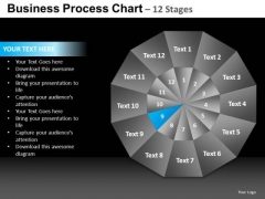 PowerPoint Template Growth Pie Chart Ppt Template