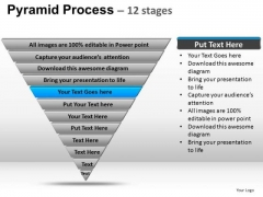 PowerPoint Template Growth Pyramid Process Ppt Template