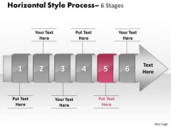 PowerPoint Template Horizontal Flow Of 6 Stage Diagram Project Management Ppt Design
