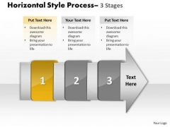 PowerPoint Template Horizontal Steps Working With Slide Numbers Demonstration Image