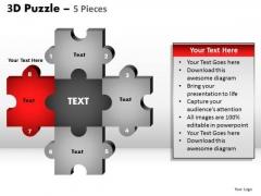 PowerPoint Template Image Puzzle Pieces Ppt Slide