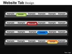 PowerPoint Template Image Website Ppt Process
