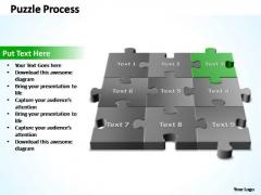 PowerPoint Template Leadership 3d Puzzle Process Ppt Slide