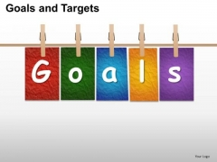 PowerPoint Template Leadership Goals And Targets Ppt Layout
