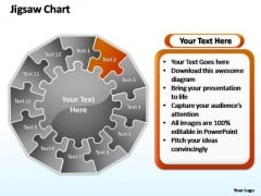 PowerPoint Template Leadership Jigsaw Ppt Process