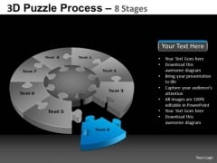 PowerPoint Template Leadership Pie Chart Puzzle Process Ppt Design Slides