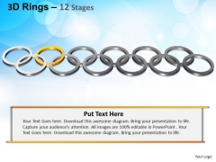 PowerPoint Template Leadership Rings Ppt Theme