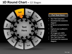 PowerPoint Template Leadership Round Chart Ppt Layout
