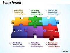 PowerPoint Template Marketing 3d Puzzle Process Ppt Slides