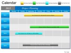 PowerPoint Template Marketing Blue Calendar 2012 Ppt Slide
