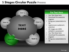 PowerPoint Template Marketing Circular Puzzle Ppt Themes