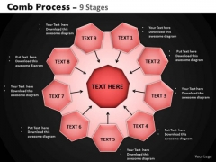 PowerPoint Template Marketing Hub And Spokes Process Ppt Themes