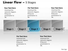 PowerPoint Template Marketing Process Horizontal Create Macro Design