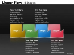 PowerPoint Template Mechanism Of Four Stages Marketing Linear Flow Process Charts Design