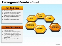 PowerPoint Template Missing Cell Hexagonal Combs Ppt Presentation