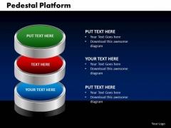 PowerPoint Template Pedestal Platform Business Ppt Slides