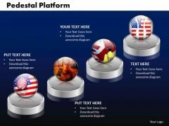PowerPoint Template Pedestal Platform Graphic Ppt Slides