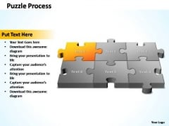 PowerPoint Template Process 3d Puzzle Process Ppt Slides