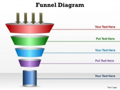 PowerPoint Template Process Funnel Diagram Ppt Presentation