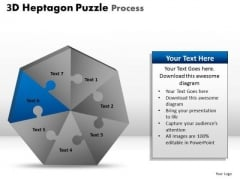 PowerPoint Template Process Hexagon Puzzle Ppt Process