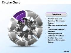 PowerPoint Template Process Interconnected Circular Chart Ppt Slide