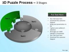 PowerPoint Template Process Jigsaw Pie Chart Ppt Theme