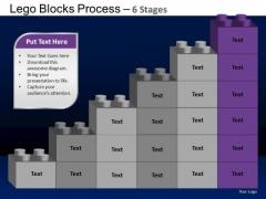 PowerPoint Template Process Lego Blocks Ppt Slides