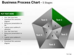 PowerPoint Template Process Pentagon Pie Chart Ppt Design
